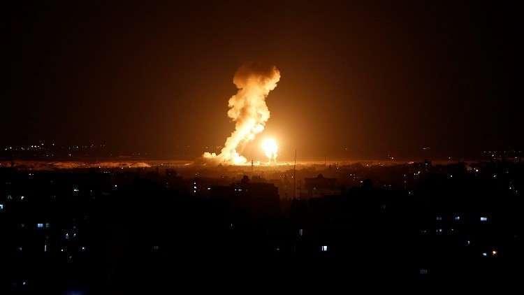 غارات إسرائيلية على موقع شرقي قطاع غزة
