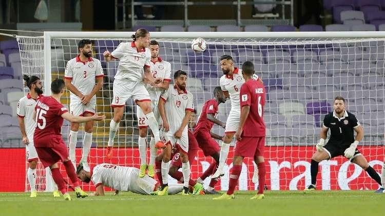العنابي القطري يهزم نظيره اللبناني في كأس آسيا 2019 (فيديو)