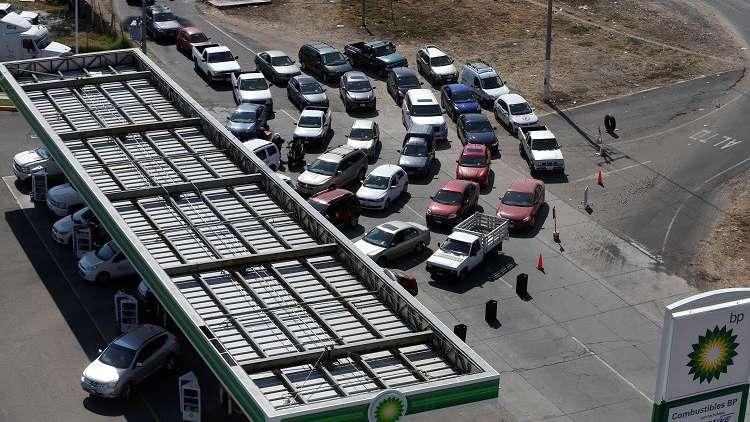 أزمة البنزين في المكسيك تتفاقم وطوابير طويلة من السيارات تنتظر على المحطات في مكسيكو سيتي