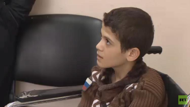 جهود روسية تنقذ ساق طفل سوري مصاب