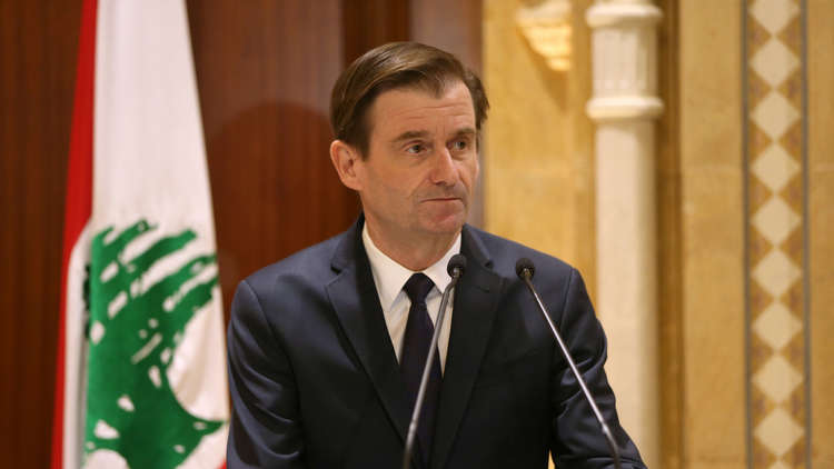 دافيد هايل يعقد مؤتمرا صحفيا في بيروت