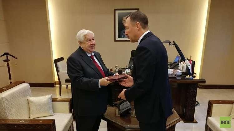 المعلم يبحث مع السفير الروسي الجديد العلاقات الاستراتيجية بين دمشق وموسكو