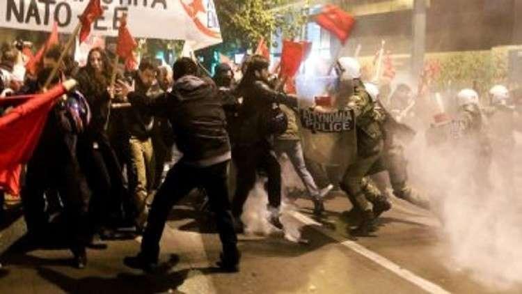إصابات بين المتظاهرين اليونانيين والشرطة بسبب الاسم الجديد لمقدونيا