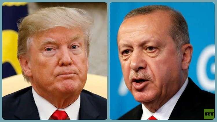 أردوغان يبلغ ترامب استعداد تركيا لتولي حفظ الأمن في منبج السورية