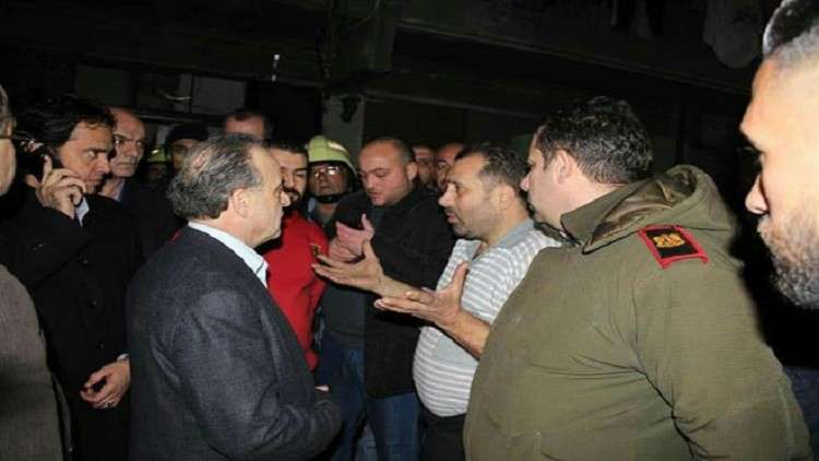 رئيس مجلس الوزراء السوري يتفقد موقع مأساة  في دمشق