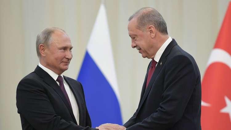 بوتين يستقبل أردوغان في موسكو