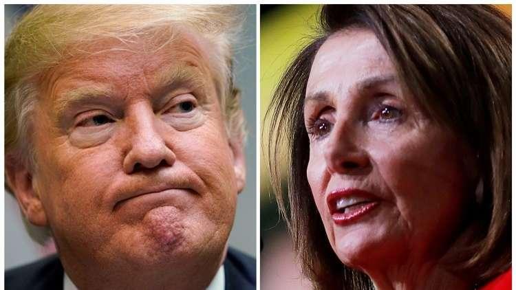دونالد ترامب ونانسي بيلوسي