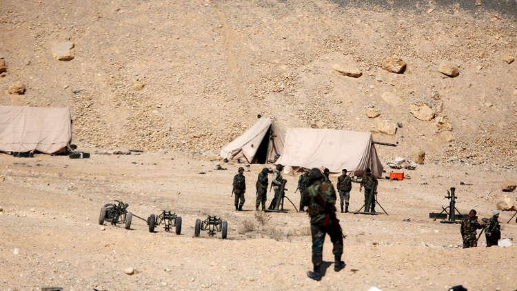 عناصر من القوات السورية في تدمر (عام 2017)