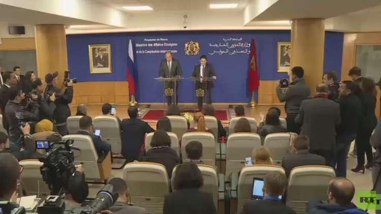مؤتمر صحفي مشترك لوزيري الخارجية الروسي سيرغي لافروف والمغربي ناصر بوريطة في الرباط