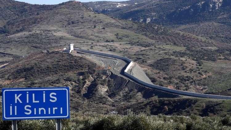 الحدود بين تركيا وسوريا، محافظة كلس، تركيا، 30 يناير 2018