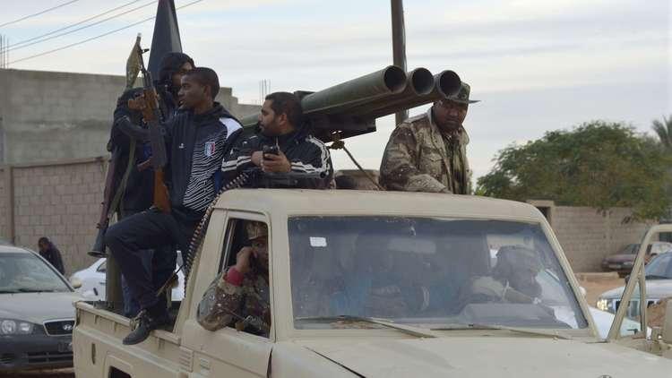 قوات ليبية في سبها الليبية