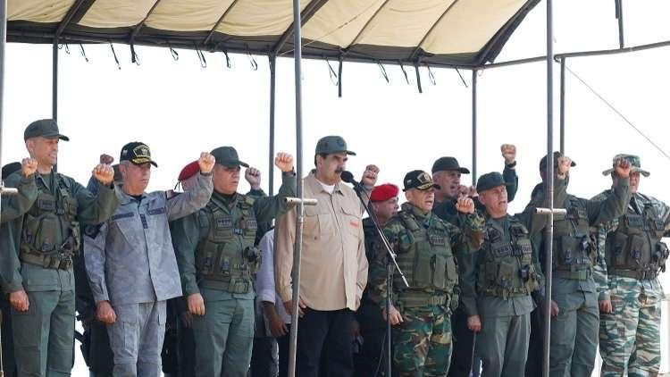 مادورو: سنشكل قوات دفاع وطني من مليوني رجل.. والجيش يظهر الإخلاص والولاء