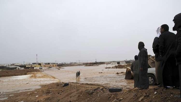 السيول في تبوك بالسعودية - أرشيف