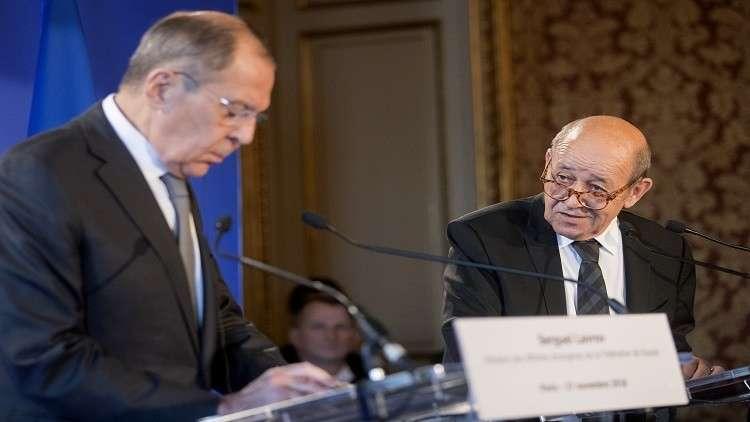 لافروف يبحث مع لودريان الوضع في سوريا والتطبيع في فنزويلا