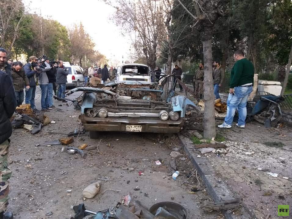 انفجار عبوة ناسفة بمنطقة العدوي في دمشق