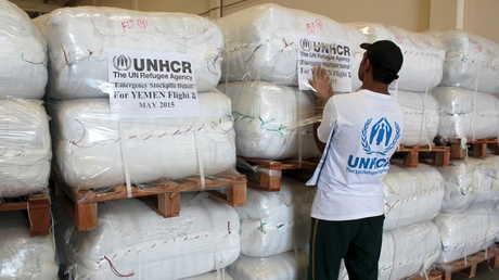 مساعدات إنسانية مخصصة للمحتاجين في اليمن