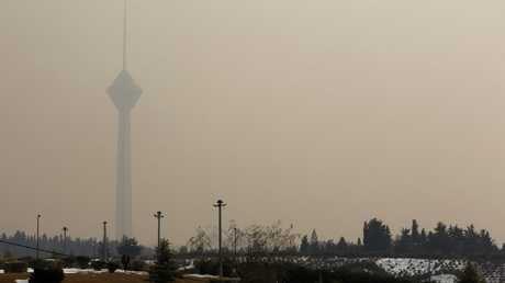 ضباب ناجم عن تلوث الجو في طهران