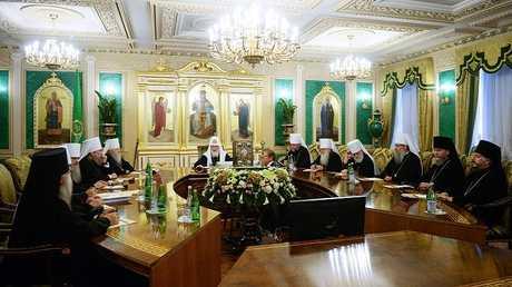 اجتماع لسينودس الكنيسة الأرثوذكسية الروسية (صورة أرشيفية)
