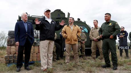 دونالد ترامب يزور منطقة الحدود الأمريكية المكسيكية بولاية تكساس، 11 يناير 2019