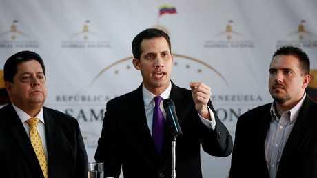 خوان غوايدو، رئيس الجمعية الوطنية الفنزويلية، كاراكاس، فنزويلا، 10 يناير 2019