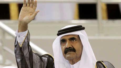 أمير قطر السابق الشيخ حمد بن خليفة آل ثاني - صورة من الأرشيف -