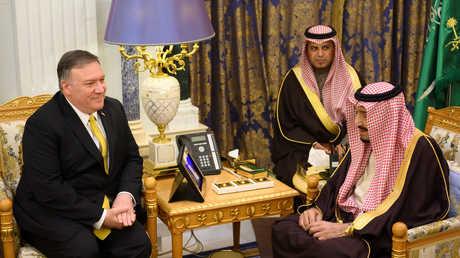 لقاء بين وزير الخارجية الأمريكي مايك بومبيو والملك السعودي سلمان بن عبد العزيز - 14/01/2019