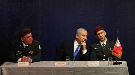 بنيامين نتنياهو يحضر مراسم تنصيب رئيس هيئة الأركان العامة الجديد للجيش الإسرائيلي الجنرال أفيف كوخافي