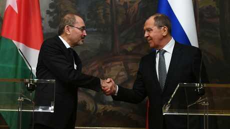 مؤتمر صحفي مشترك لوزيرا خارجية روسيا سيرغي لافروف والأردن أيمن الصفدي - صورة أرشيفية