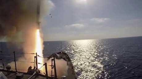 أرشيف - إطلاق صواريخ كاليبر من الفرقاطة