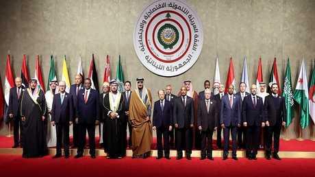 قادة وزعماء الدول المشاركة في القمة العربية الاقتصادية في لبنان