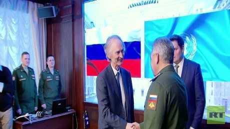 لافروف وشويغو يلتقيان بيدرسون في موسكو