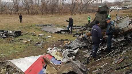 حطام الطائرة الماليزية شرقي أوكرانيا