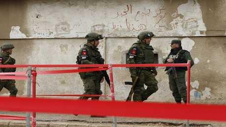 أرشيف - عناصر من الشرطة العسكرية الروسية في سوريا