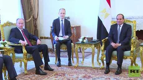 باتروشيف يلتقي مع السيسي في القاهرة
