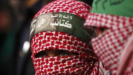 أحد عناصر كتائب القسام التابعة لحركة حماس الفلسطينية