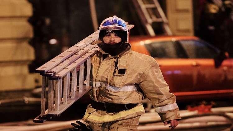 رجل اطفاء روسي - ارشيف