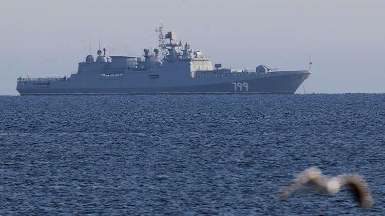 البحرية الروسية تتدرب على صد هجوم صاروخي في حوض المتوسط