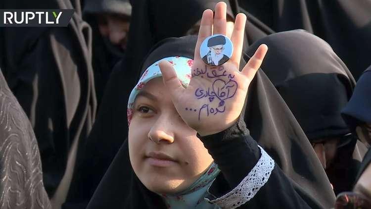 مسيرة نسائية في طهران تأييدا للذكرى الـ40 للثورة الإسلامية