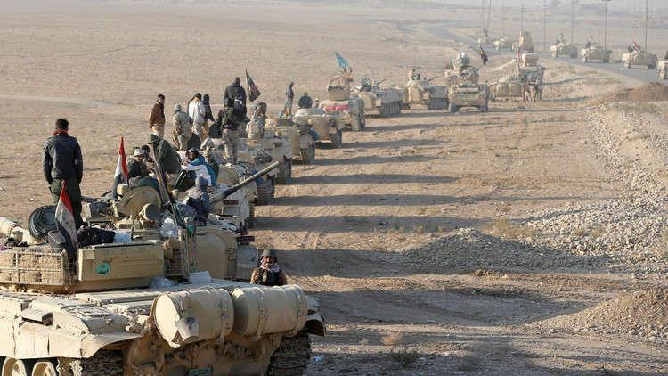 القوات العراقية اثناء عملية تحرير الموصل - أرشيف