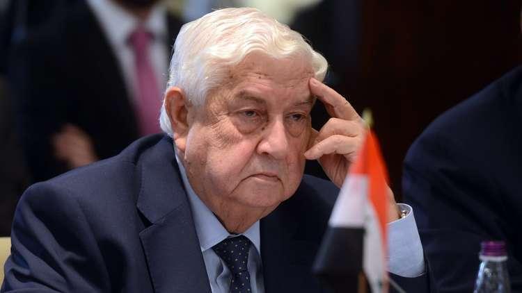 وزير الخارجية السوري يزور طهران غدا