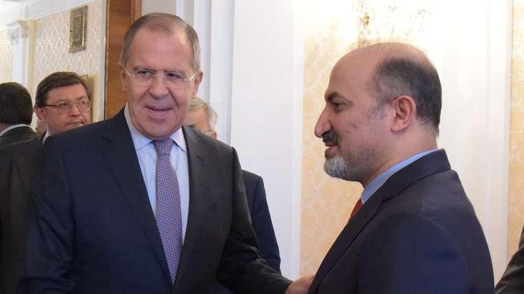 وزير الخارجية الروسي سيرغي لافروف يستقبل رئيس