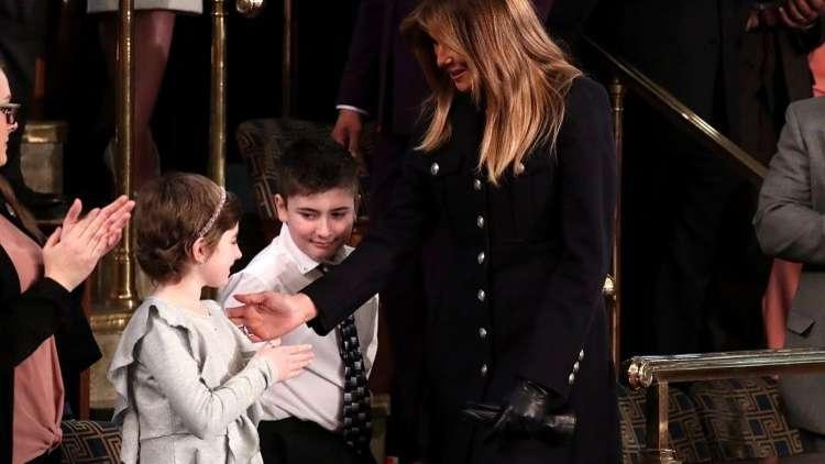 ميلانيا ترامب في الكونغرس، واشنطن، 5 فبراير 2019
