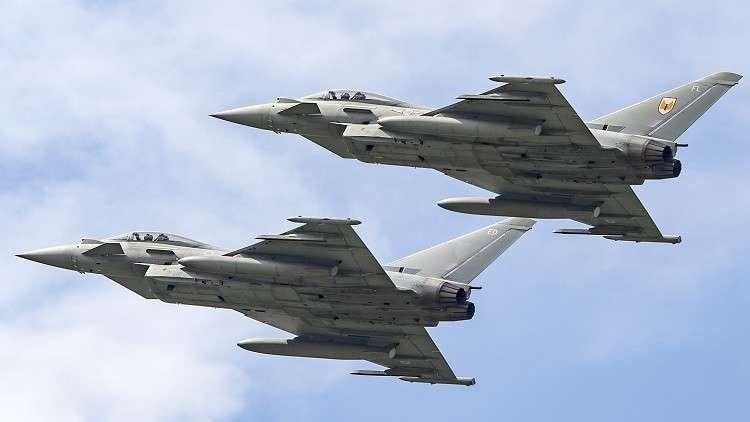 مقاتلات ألمانية من طراز Eurofighter  أثناء مناورات للناتو في البلطيق