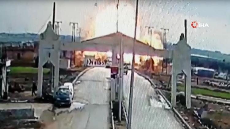 شاهد لحظة الانفجار الذي هز بوابة كلس الحدودية مع تركيا