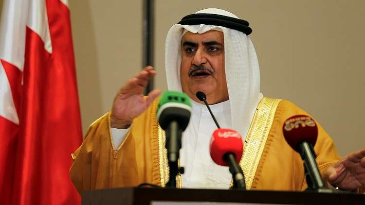 وزير الخارجية البحريني خالد بن أحمد آل خليفة (صورة أرشيفية)