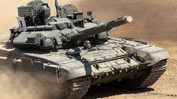 فيديو لاختبار دبابة T-90MS الحديثة