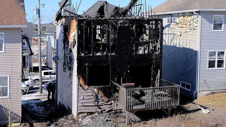 حريق يلتهم منزل عائلة سورية لاجئة في كندا