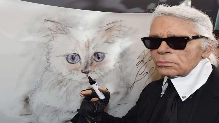قطة لاغرفيلد.. أورثها الملايين رغم عدم تمكنه من الزواج بها!