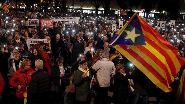 احتجاجات في كتالونيا (صورة من الأرشيف)