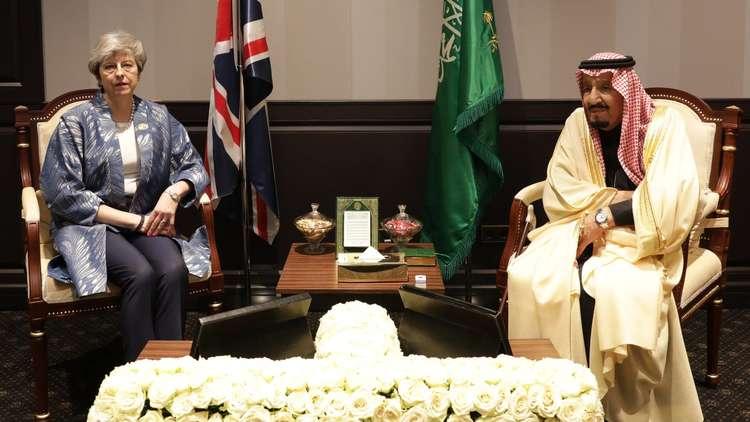 تيريزا ماي تجتمع بالملك سلمان في شرم الشيخ